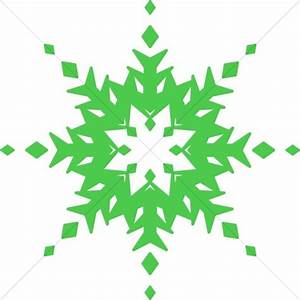 Red And Green Snowflake Clipart - ClipartXtras