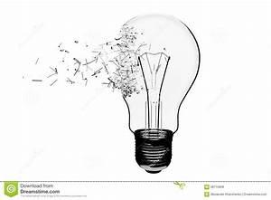 Idea Concept. Light Bulb Exploding Stock Illustration ...
