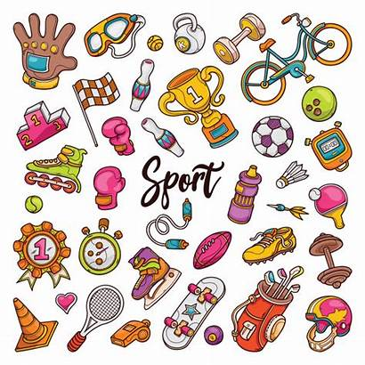 Doodles Sport Premium Drawn Vector Hand