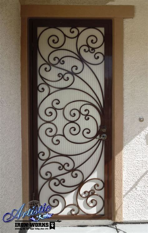 scrolled wrought iron security screen door wrought iron