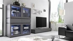 Meuble Tv Gris Laqué : meuble tv bas design laqu gris mat avec 3 tiroirs ivo gdegdesign ~ Teatrodelosmanantiales.com Idées de Décoration