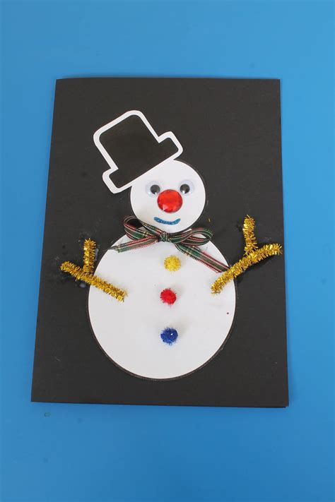 Quick and easy homemade christmas card ideas and inspiration. Christmas Card Craft Idea for Children