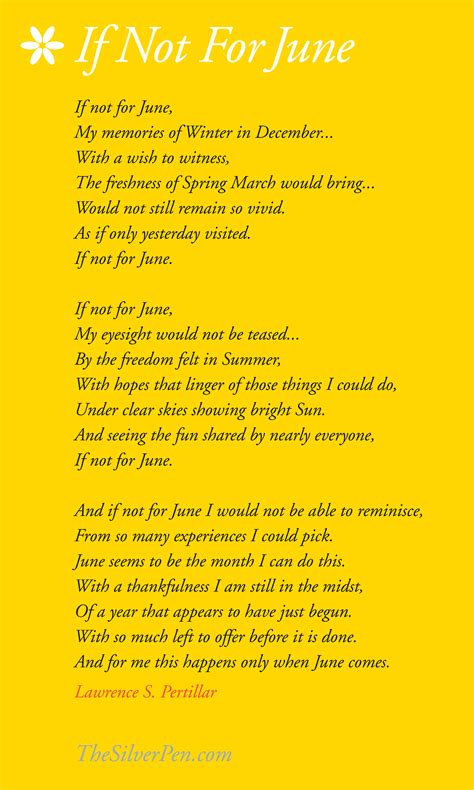 poems for poem about june thesilverpen com