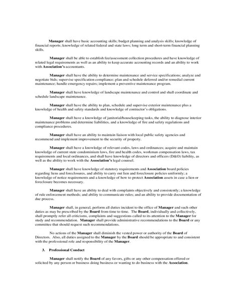 Sample Manager Employment Contract Free Download