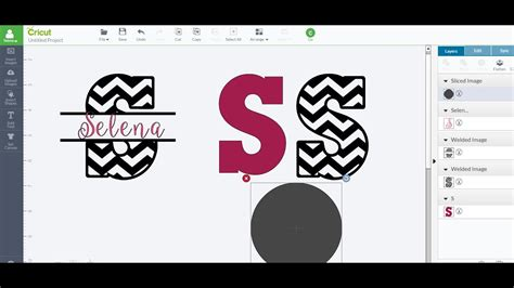 patterned split imagesletters  slice weld cricut design space youtube