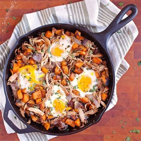 Rub spice mixture onto all sides of pork chops and into scored lines. Pulled Pork Sweet Potato Hash with Eggs - 2teaspoons