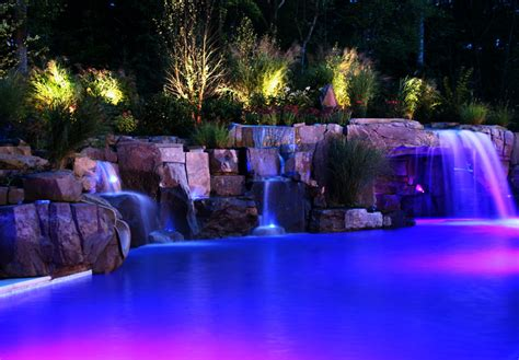colored outdoor lights colored led landscape lighting mainstays crackle
