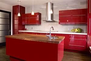 Küche In Rot : moderne k chen stilvoll gestalten design dekoration und k che ~ Frokenaadalensverden.com Haus und Dekorationen