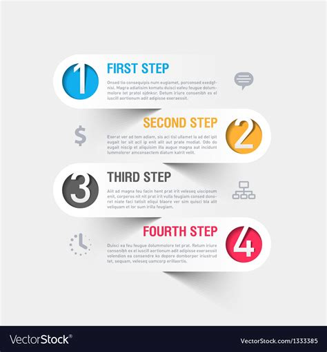 business steps infographics template royalty free vector