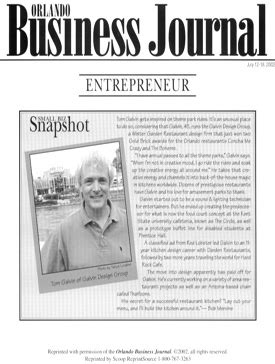 ORLANDO BUSINESS JOURNAL – SMALL BUSINESS SNAPSHOT