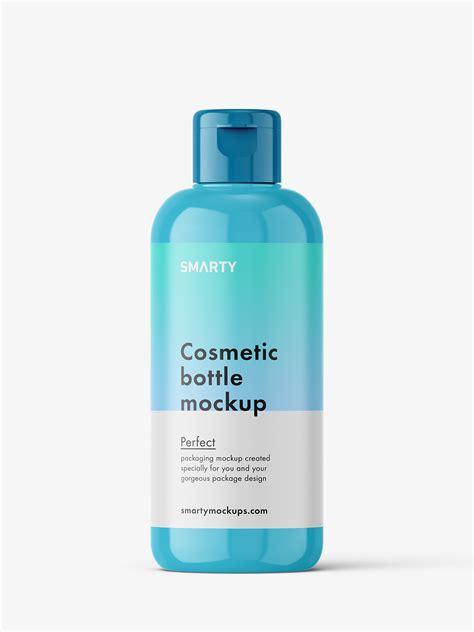 We have a rich list of different amazing bottle mockups for your design works. Glossy bottle mockup with flip top mockup - Smarty Mockups