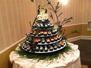 Camouflage Cupcake Tower - CakeCentral com