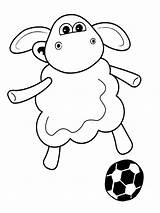 Sheep Shaun Coloring Pages Cartoon Shon Pokemon Ones Characters sketch template