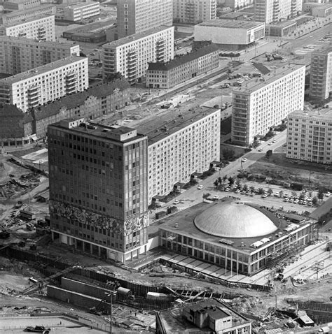 Vintage Berlin Mitte by Fernsehturmbau Und Baustelle Alexanderplatz In Berlin