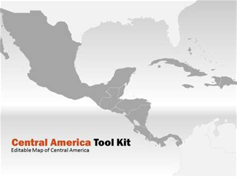 costa rica map template central america map tool kit a powerpoint template from