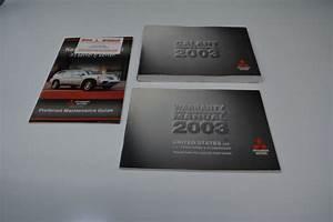 2003 Mitsubishi Galant Owners Manual Book Guide A1791