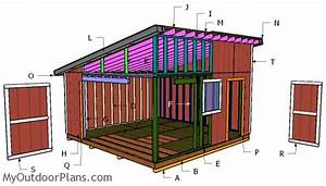 16x16 lean to shed free diy plans myoutdoorplans With 16x16 shed plans