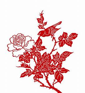 4-Designer | Peony paper cutting vector material