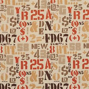 letters numbers and symbols cotton linen woven upholstery With cloth letters and numbers