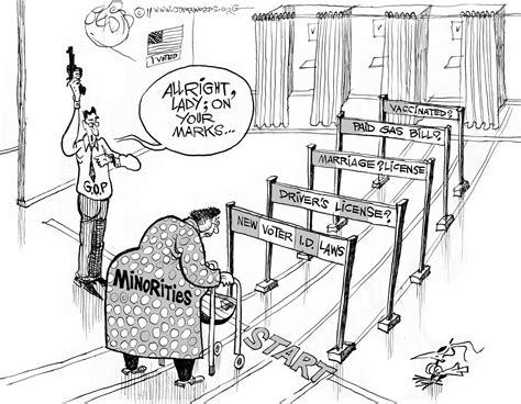 voting rights voter cartoon republican civil american voters obstacles crow jim political disenfranchising movement cartoons laws modern politics progressive law