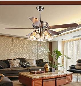 Ceiling fan light living room antique dining fans
