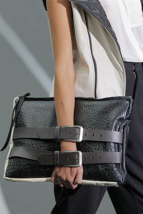 buckle strap clutch bag sporty chic fashion details