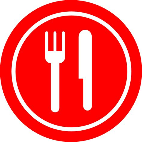 Plate with Fork and Knife Clip Art