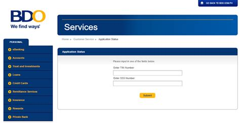 The application id is an application reference number given to the customer when they apply for the credit. How To Apply For BDO Credit Card In 2018