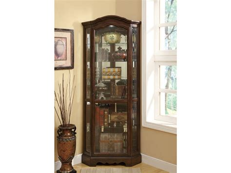 Coaster Home Furnishings Contemporary Curio Cabinet by Living Room Cabinets Coaster Corner Curio Cabinet Cherry