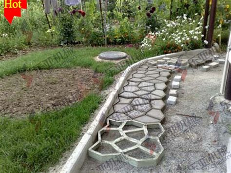 curved path stepping mold garden patio driveway