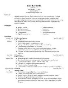 software qa director resume software testing resume exles it resume sles