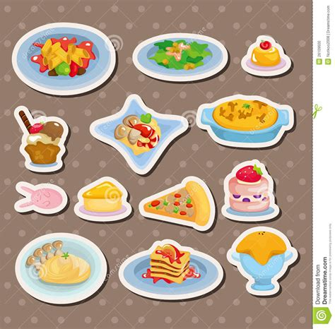 cuisine stickers food stickers stock photo image 26109600