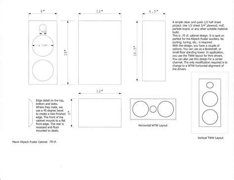 Klipsch Foster Inch Center Channel Speaker Kit