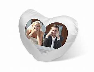 Herzkissen Mit Foto : herzkissen mit foto kissen in herzform bedrucken ~ Watch28wear.com Haus und Dekorationen