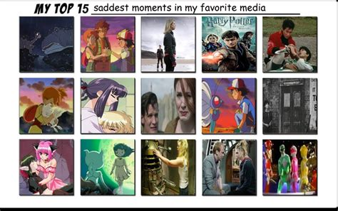 My Top 15 Saddest Moments In My Favorite Media By