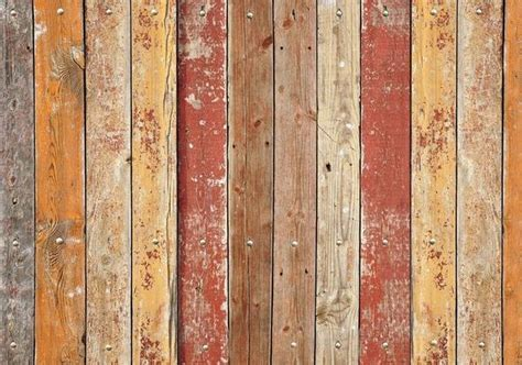 Play Ground Plank Faux Wood Rug   Retro Barn Country Linens