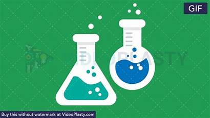 Test Flat Animated Icon Flasks Animation Clipart