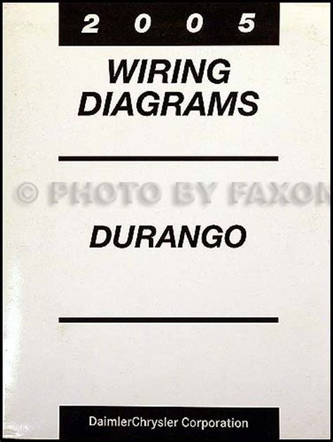 2005 Dodge Durango Wiring Diagram by 2005 Dodge Durango Wiring Diagram Manual Original