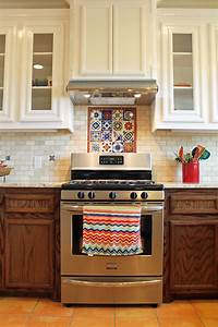 Mexican tile backsplash designs home ideas for Kitchen cabinets lowes with decorative tiles for wall art