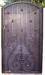 Wrought Iron Gate Privacy Screen