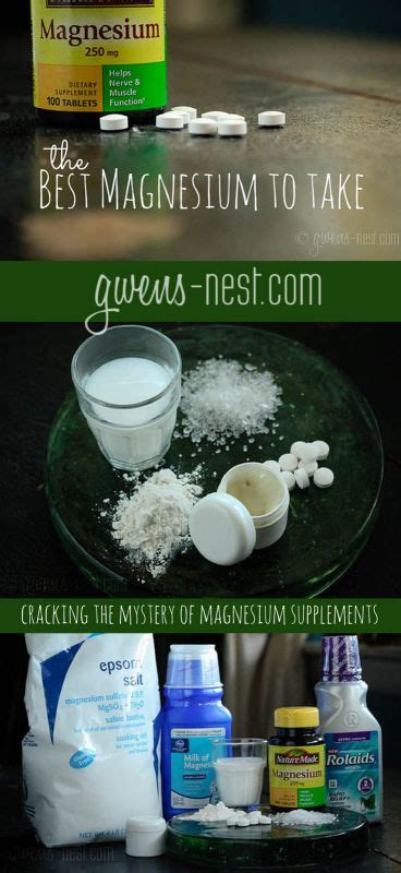 ideas   magnesium supplement  pinterest