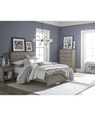 Tribeca Bedroom Furniture tribeca grey bedroom furniture collection created for
