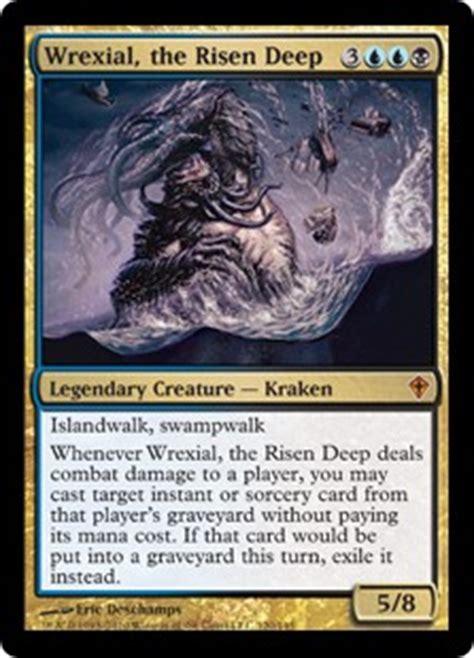mtg blue kraken deck wrexial the risen worldwake gatherer magic
