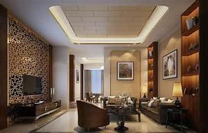 Living room wall design and decoration