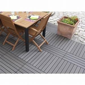 Dalle Terrasse Clipsable : dalle terrasse clipsable composite gris 30 x 60 ~ Melissatoandfro.com Idées de Décoration