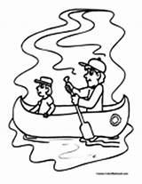 Canoe Coloring Kayak Canoeing Canoekayak Colormegood sketch template