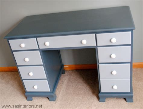 tips on painting furniture painted two toned desk tips on painting furniture jenna burger