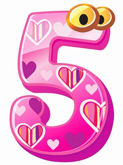 Number Clipart Five Numbers Transparent Yopriceville