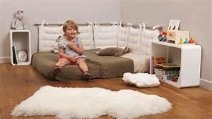 Lit Enfant Sol : chambre b b montessori coussin de sol enfant literie ~ Nature-et-papiers.com Idées de Décoration