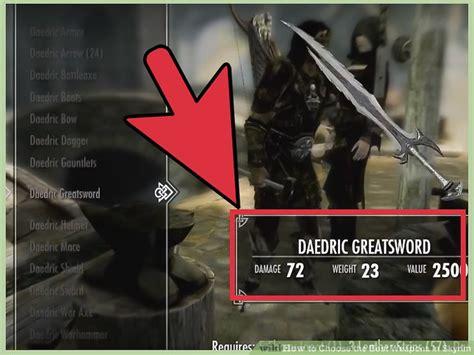 skyrim weapons choose sword dagger